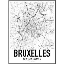 Bruxelles Map Poster