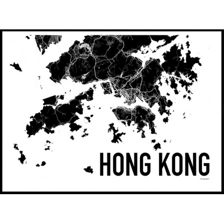 Hong kong map poster find your posters at wallstars online shop today hong kong map poster gumiabroncs Choice Image