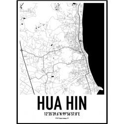 Hua Hin Map Poster
