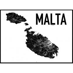 Malta Map Poster