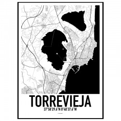 Torrevieja Map Poster