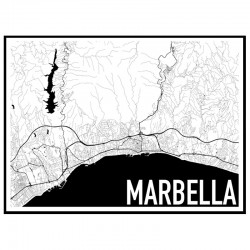 Marbella Map Poster
