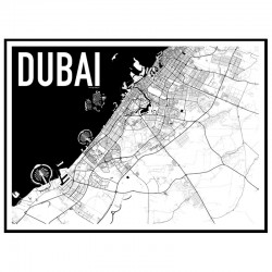 Dubai Map Poster