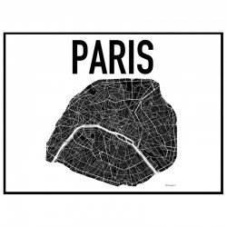 Map Paris Poster