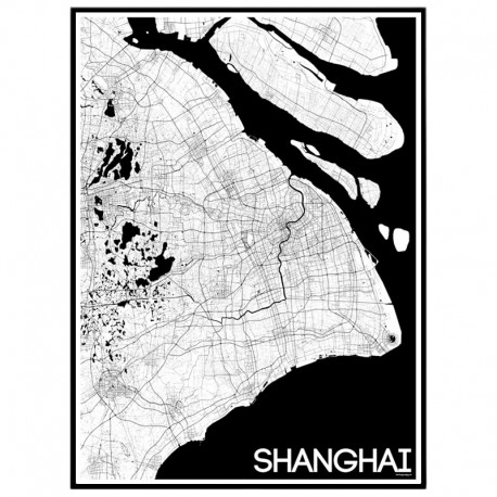Shanghai Map Poster