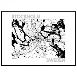 Map Stockholm Poster