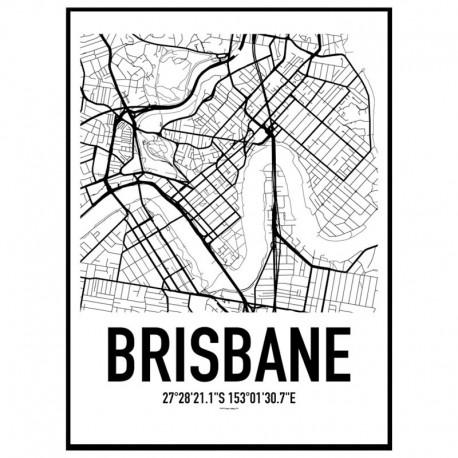 Brisbane Map Poster