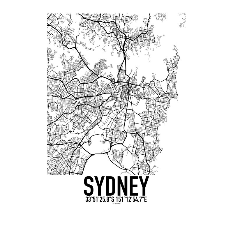 Sydney Map Poster Find Your Posters At Wallstars Online Shop Today - Norway map poster