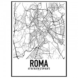 Roma Map Poster