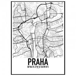 Praha Map Poster