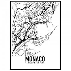 Monaco Map Poster