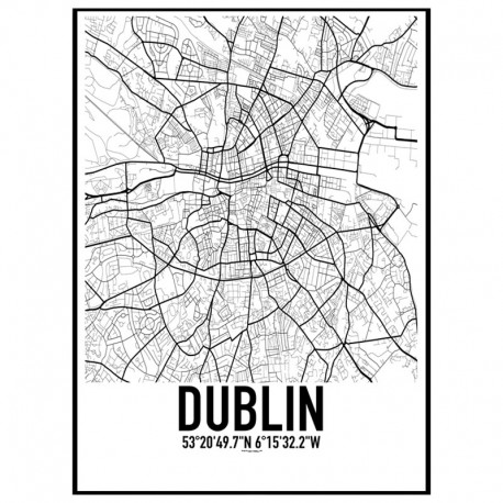 Dublin Map Poster Find Your Posters At Wallstars Online