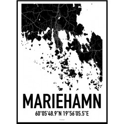 Mariehamn Map Poster