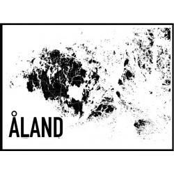 Åland Map Poster