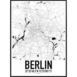 Map Berlin Poster