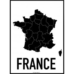 France Map Poster
