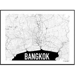 Map Bangkok Poster