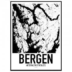Bergen Map Poster