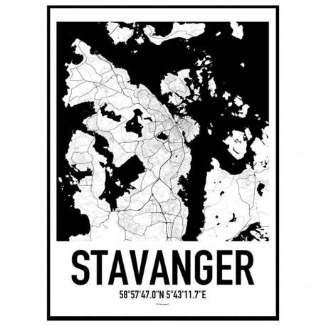 Stavanger Map Poster