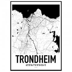 Trondheim Map Poster