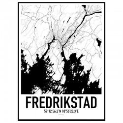 Fredrikstad Map Poster