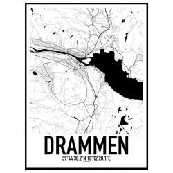 Drammen Map Poster