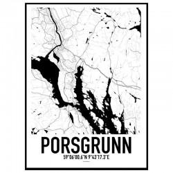 Porsgrunn Map Poster
