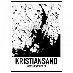 Kristiansand Map Poster