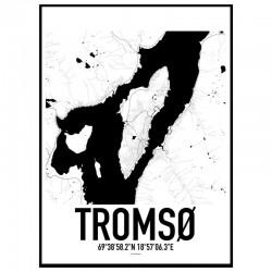 Tromsø Map Poster