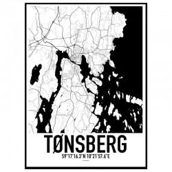 Tønsberg Map Poster