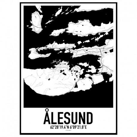 Ålesund Map Poster