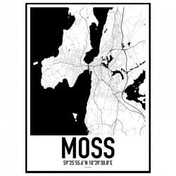 Moss Map Poster