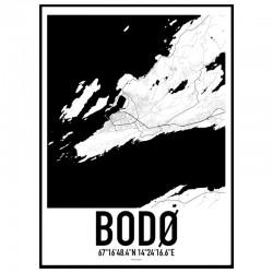 Bodø Map Poster