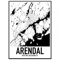 Arendal Map Poster