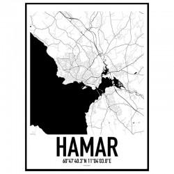 Hamar Map Poster