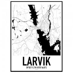 Larvik Map Poster