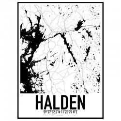Halden Map Poster