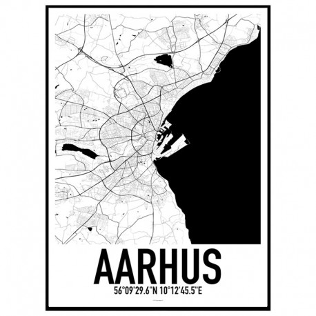 Aarhus Map Poster Find your posters at Wallstars Online Shop today