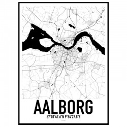 Aalborg Map Poster