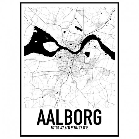 Aalborg Map Poster Find your posters at Wallstars Online Shop today