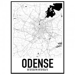 Odense Map Poster