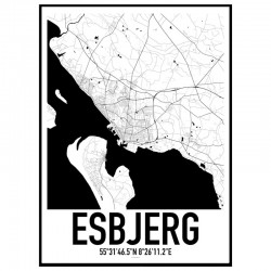 Esbjerg Map Poster