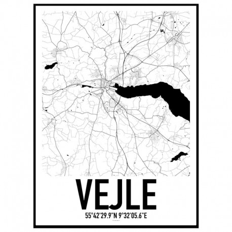 Vejle Map Poster
