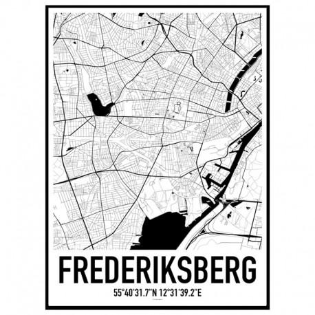 Frederiksberg Karta Poster Find your posters at Wallstars Online