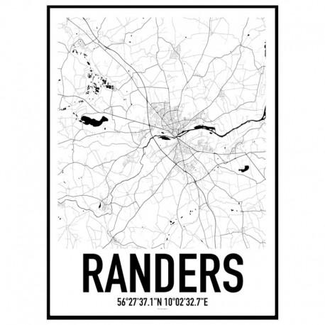Randers Map Poster