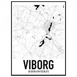 Viborg Map Poster