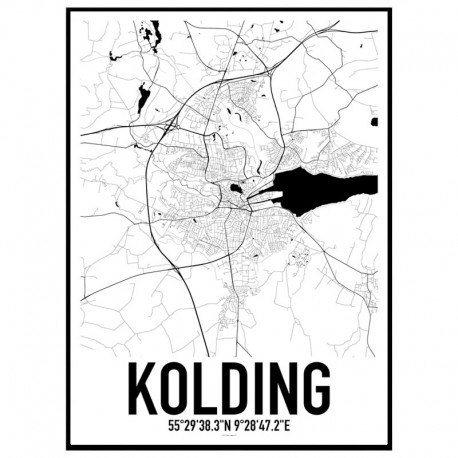 Kolding Map Poster Find your posters at Wallstars Online Shop today
