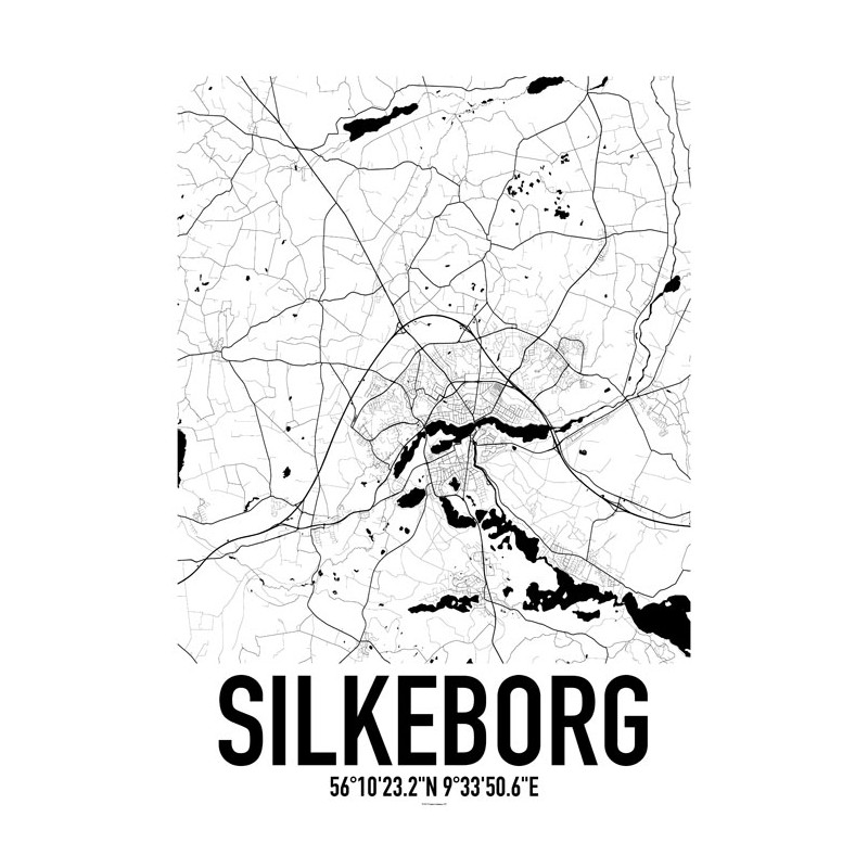 Silkeborg Map Poster. Find your posters at Wallstars Online. Shop today!
