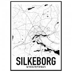 Silkeborg Map Poster