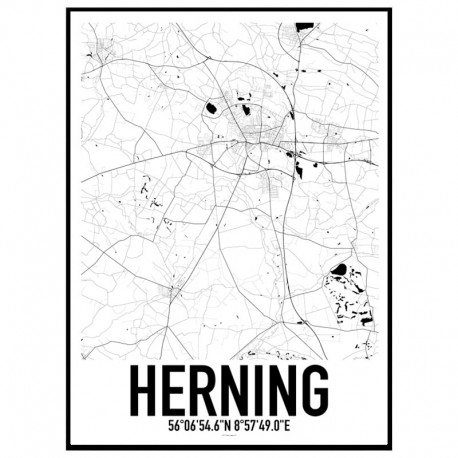 Herning Map Poster Find your posters at Wallstars Online Shop today